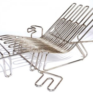 Stainless Steel Chair with Waterconnection